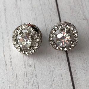Crystal Diamond Earrings Fashion Bling